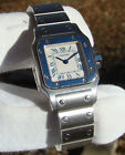 CARTIER WOMENS SANTOS GALBEE STAINLESS STEEL 24mm AUTOMATIC WATCH Ref. W20056D6