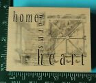 HOME WARMS THE HEART Rubber Stamp by Club Scrap Barn Doors