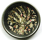 BB Antique Button Crystallized Tin Bouquet of Flowers !