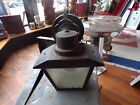 Antique Vintage Metal Frosted Glass Porch Light Sconce Wall Mount