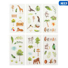 6 Pcsset Creative Animal Succulent Plants Sticky Paper Cute Decorative Stickers
