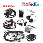 Motorcycle QUAD Stator CDI Coil Electric Wiring Harness Wire Loom Assembly Kit