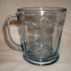 Vintage Fire King Glass Philbe Sapphire Blue D Handled Coffee Mug Cup