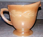 Fire King Lustreware Peach Orange Creamer Anchor Hocking