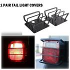 Black Exterior Rear Tail Light Guard Cover Protect For Jeep Wrangler 87-06 TJ YJ