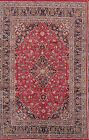 Spectacular Pink Floral Room Size Kashmar Persian Hand Knotted Area Rug 7x10