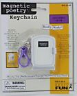 Magnetic Poetry Keychain Keyring Words retired travel doll Basic Fun Retired NEW