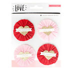 Crate Paper Hello Love Scrapbook Stickers Layered Embellishments Delights