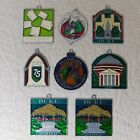 8 DUKE UNIVERSITY stained glass SUNCATCHER Ornament lot 2002 08 medicine garden
