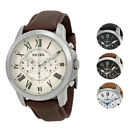 Fossil Grant Chronograph Leather Men's Watch | Multiple Colors