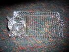 NIB  Set of four(4) ORCHARD CRYSTAL Glass Party Sets-4 plates/4 cups