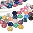 50Pcs Resin Dome Cabochon DIY Buttons Scrapbook Wedding FlatBack Rhinestone