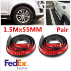 2Pcs Car Fender Flares Extra Wide Body Wheel Arches Protector Stripe 15M55cm