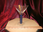 Blue Ball Bubble Stem Martini Glass 7