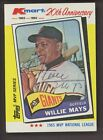 1982 Topps KMart 20th Anniversary Willie Mays Giants HOF Signed AUTO