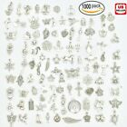 Wholesale Bulk Lots Jewelry Making Silver Charms Mixed Smooth Tibetan Silver DIY