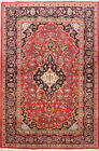 Vintage Floral Red/Gold 5x7 Kaashan Persian Oriental Hand-Knotted Area Rug