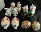 Lot Vintage Salt  Pepper Shakers PIGS 6 Sets incl Anthropomorphic Fitz Floyd +