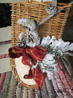 Hand Crafted Primitive Country Twig Birch bark Christmas Winter Wall Pocket 9