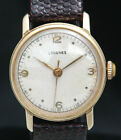 1940s LONGINES SOLID 14K GOLD RARE Mens Mid Size WATCH 10L 17J VTG Screw Back WW
