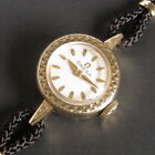 Ladies MINT 1961 Omega 14K Solid Gold SAPPHETTE Swiss Watch + Box, Papers