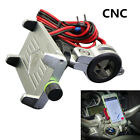 CNC Motorcycle GPS Navigation Mount Bracket With USB Charger For 60mm-100mm GPS