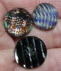 3 Kaleidoscope buttons, 2 at 9/16 and one at 5/8 inch.