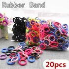 20 50Pcs Kid Girl Colorful Elastic Hair Band Headwear Rubber Bands Ponytail Gift