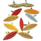 Fall Leaves Bright Shaped Brads 12pc Eyelet Outlet