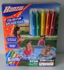 Inflatable Kiddie Pool Splash Banzai Color Crayon Washable Animals 54 Round NIP