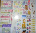 Spring Easter Chicks Scrapbooking Sticker Set Jolees Sandylion Eggs Jellybeans
