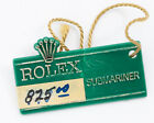 Vintage 1970's Rolex Green Hang Tag for the Red Submariner! Excellent Condition!