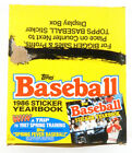1986 Topps Baseball Sticker Yearbook Album Box (16 Albums)