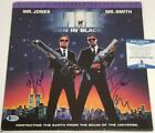 WILL SMITH & DANNY ELFMAN Signed MEN IN BLACK Laserdisc Cover Beckett BAS COA