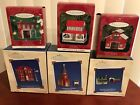 Hallmark Ornaments TOWN & COUNTRY, LOT of 6, Pressed Tin, VERY NICE