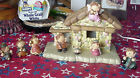8 Piece Lighted Nativity Set  Manger Made In China