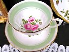 green bands pattern teacup footed