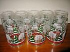 ARBY'S  Set of 12 Double Old Fashioned Tumblers Winter Scene Trees  XLNT