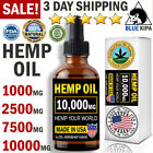 Organic Hemp Seed Oil Drops 10,000 mg for Pain Relief, Reduce Stress, Sleep Aid