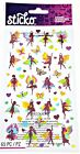 Sticko Scrapbooking Stickers Foil Fairy Dancers Fairies Wings Hearts Repeats