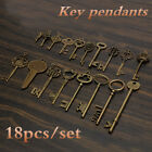 18Pcs Antique Vintage Old Look Skeleton Keys Lot Bronze Tone Pendants Jewelry !