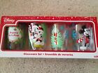 4 Zak Disney Mickey Mouse holiday Christmas 16 oz glasses new in the box
