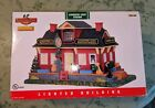 Lemax Coventry Cove Station Lighted Building Christmas Village Train Bus RARE