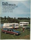 1972 Ford Recreation Vehicles Sales Brochure Bronco Ranchero Full Size