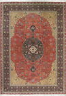 Mansion Antique Vegetable Dye Tabriiz Persian Hand-Knotted 12x16 Kork/Wool Rug
