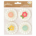 Pebbles Spring Fling Easter Dimensional Rosettes Pinwheel Embellishment Stickers