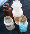 4 Antique Apothecary Glass Bottles