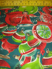 18 Vintage style ball christmas ornaments Angels bird quilt fabric red green