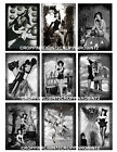 SET OF 9 225X325 HALLOWEEN PIN UP WITCH 115 GIFT HANG TAGS SCRAPBOOK