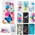 For LG G6 G7 ThinQ Pattern Leather Case Wallet Card Holder Protective Cover